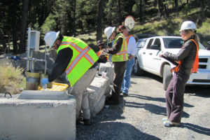 OHA observes water quality monitoring at the mine